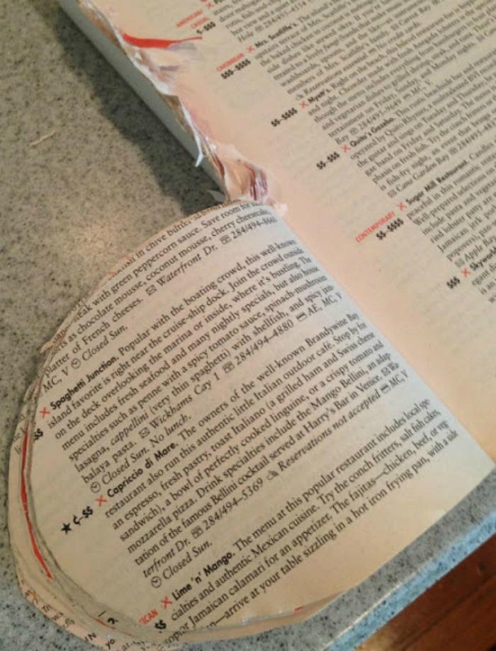 making a book pumpkin