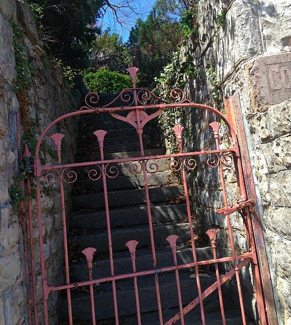 old pink gate in Eureka Springs
