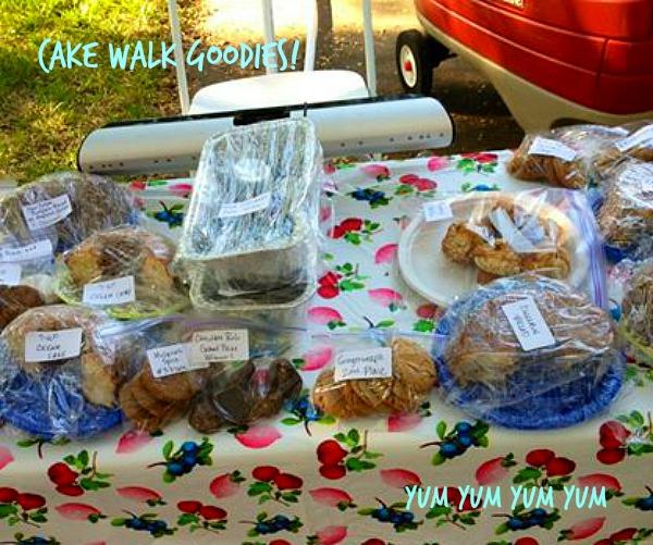 cake walk goodie table