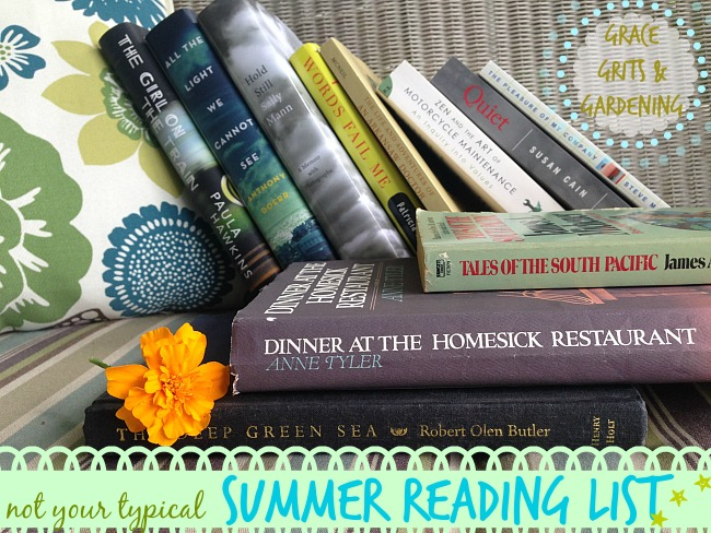 Grace Grits and Gardening - My Summer Reading List