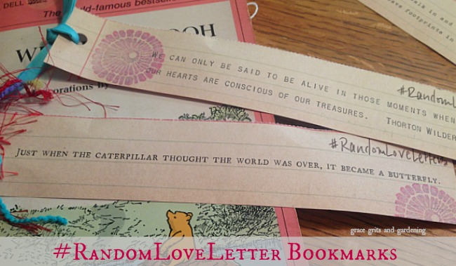 random love letter bookmarks