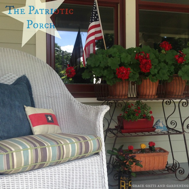 The Patriotic Porch - simple touches pack punch