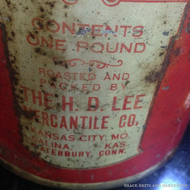 vintage coffee can label
