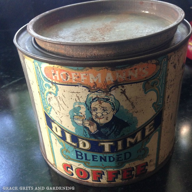 Vintage Coffee Tin Planter