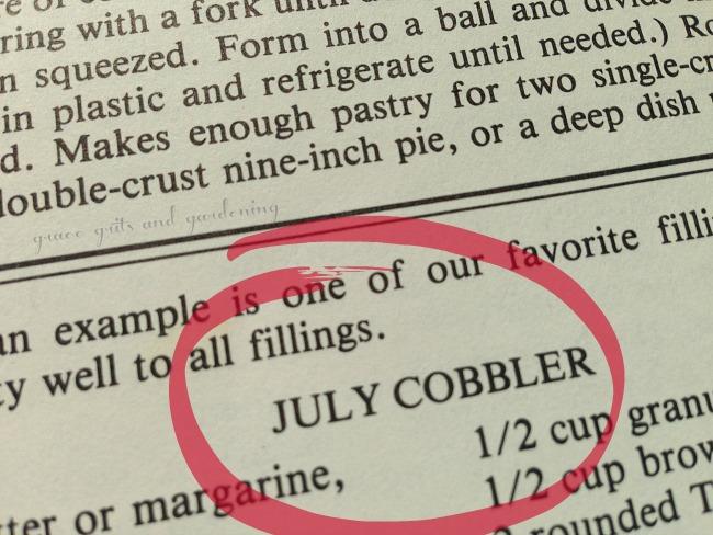 July Cobbler from Ozarks Collection Cookbook
