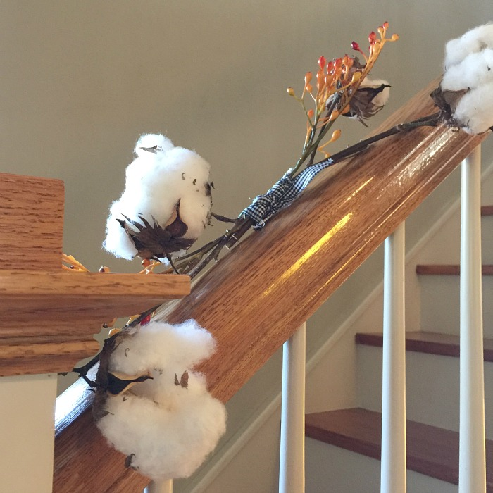cotton on the stairs