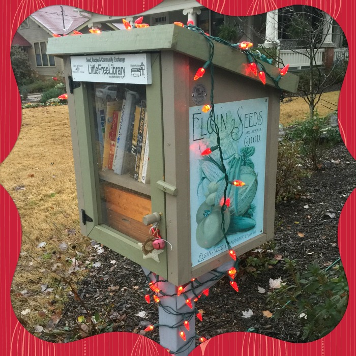 Christmas at my Little Free Library