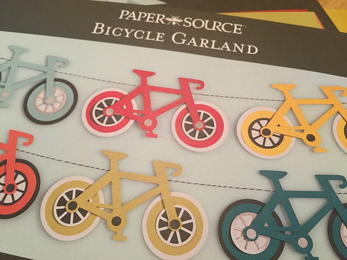 Paper Source Bicycle Garland