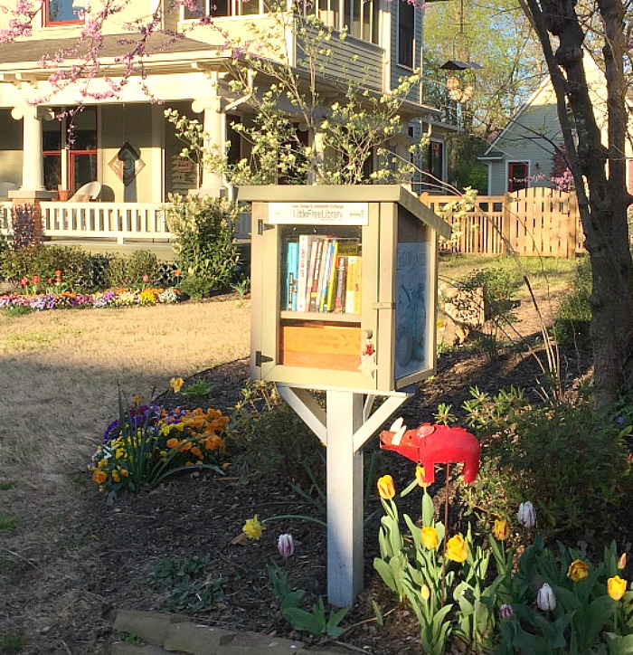 Little Free Library, Fayetteville, Spring!