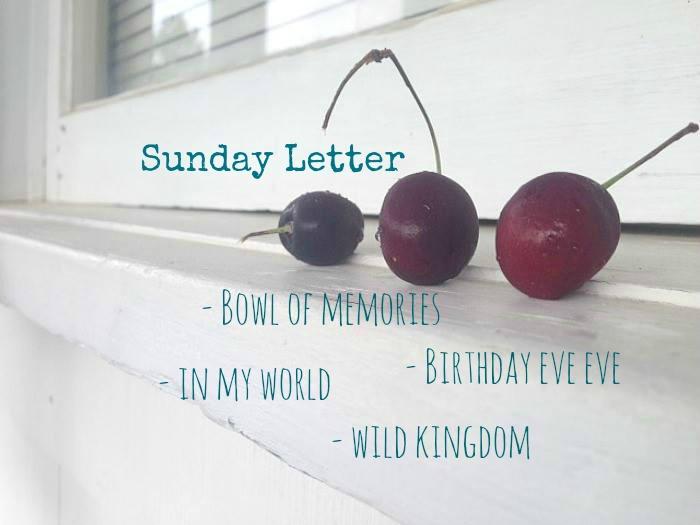 Sunday Letter 07.08.18